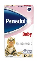 PANADOL BABY ČÍPKY RCT SUP 10X125MG