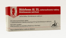 DICLOFENAC AL 25 TBL ENT 50X25MG