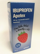 IBUPROFEN APOTEX 100MG/5ML POR SUS 1X150ML