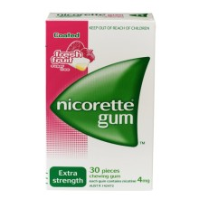 NICORETTE FRESHFRUIT GUM 4 MG ORM GUM MND 30X4MG