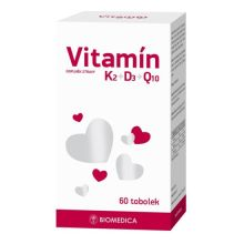 Vitamín K2+D3+Q10 Biomedica tob.60